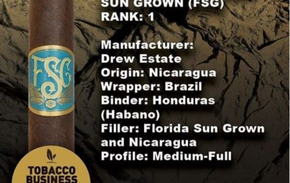 Florida Sun Grown Voted #1 Cigar of the Year by Tobacco Business Magazine