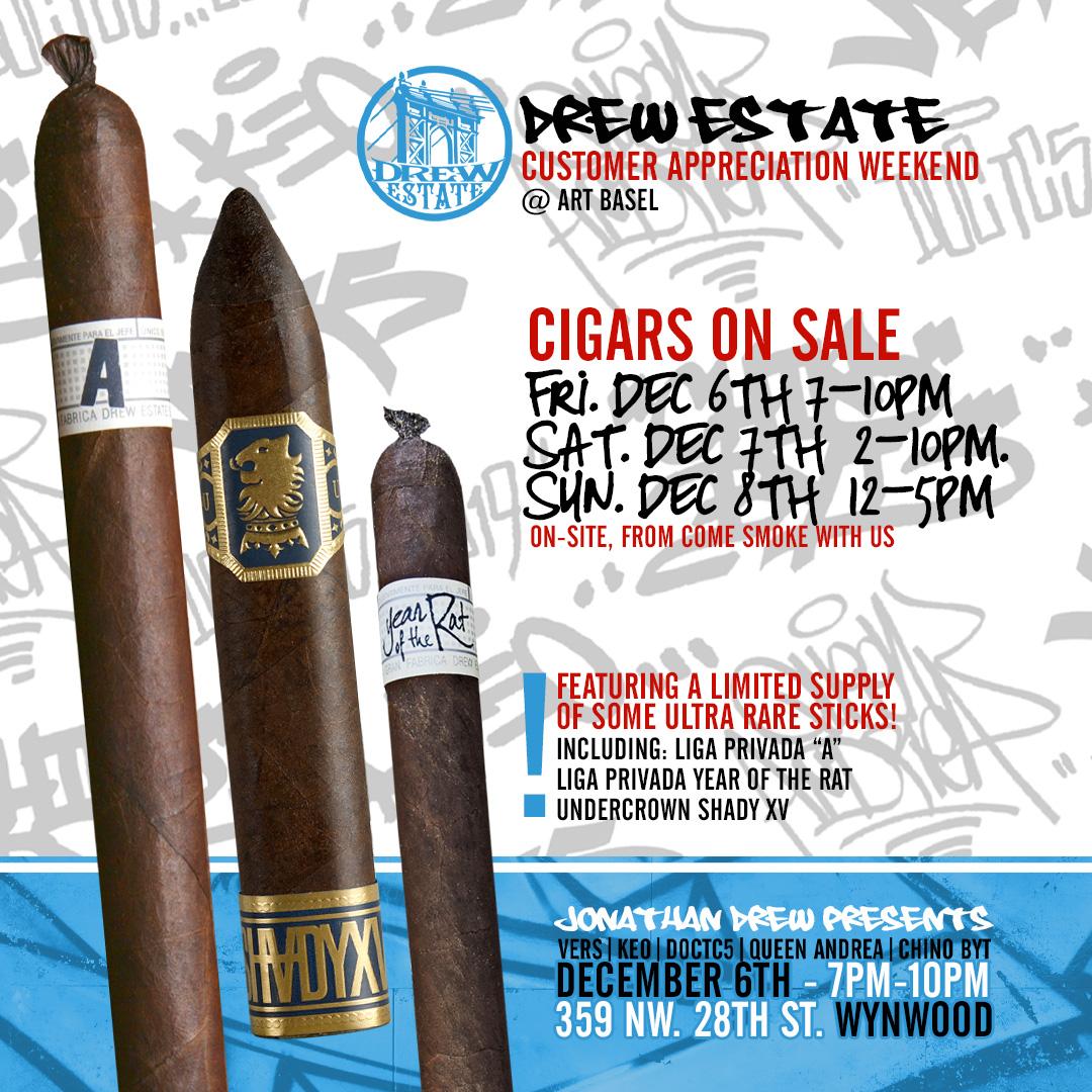 Drew Estate X Art Basel Gala Event Friday 12/6 in Miami!